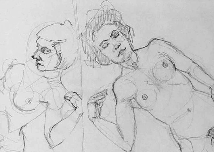 Figure Drawing Via Zoom featuring Dorota