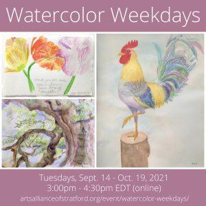 Watercolor Weekdays @ Zoom Online