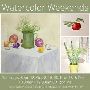 Watercolor Weekends @ Zoom Online