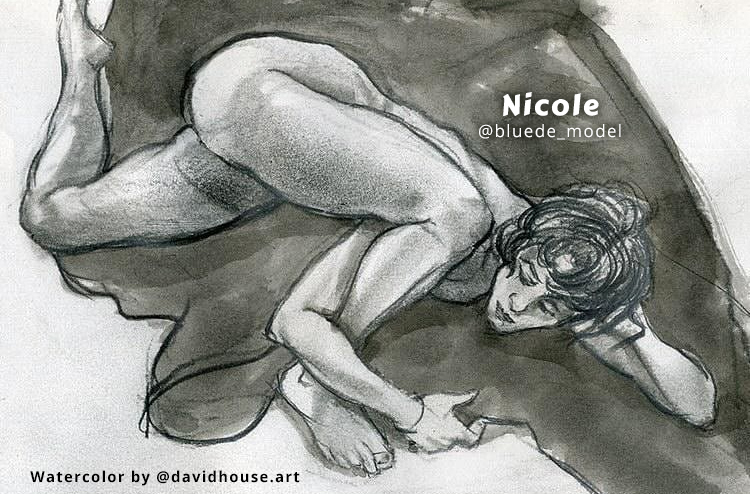 Long Pose Figure Study on Zoom featuring Nicole